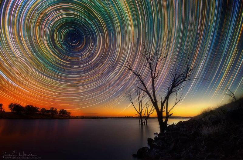 Ночное небо с выдержкой