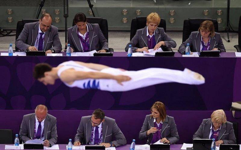 Очень «внимательные» судья Европейских Игр в Баку. Азербайджан.