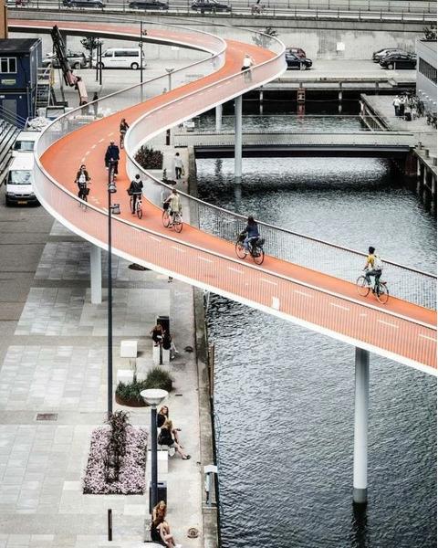 Подвесная велосипедная дорожка, Дания