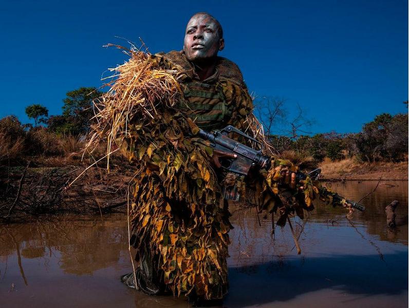 Камуфляж борцов с браконьерами в Зимбабве.