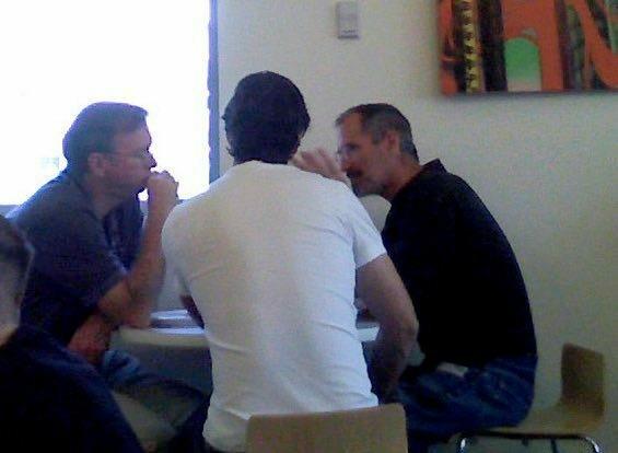 Стив Джобс в офисе Google в 2007 году