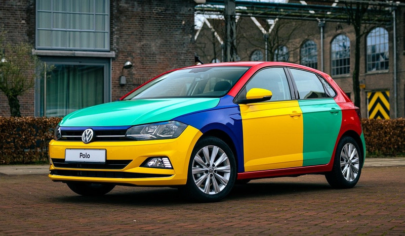 Разноцветный Volkswagen Polo Harlekin