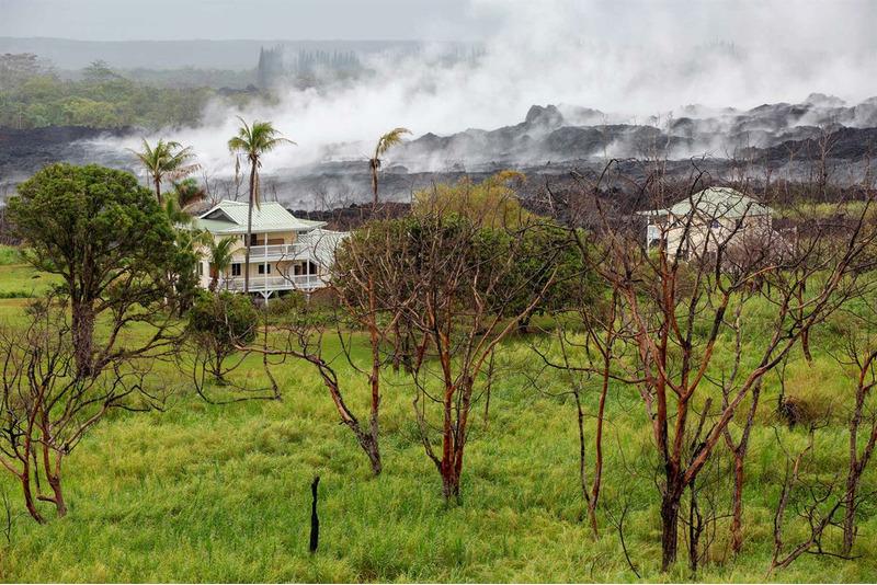 после извержения вулкана Килауэа