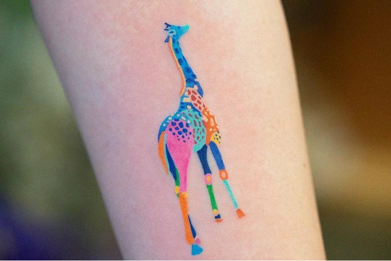 Цветные татуировки