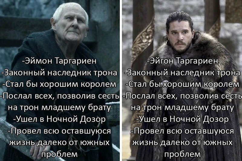 Игра престолов, Мейстер эймон, Джон Сноу,