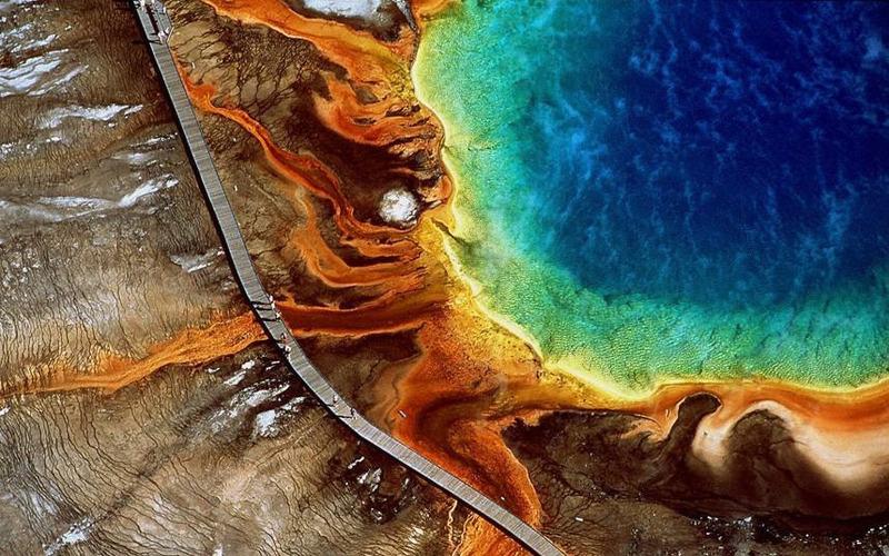 Это крупнейший горячий источник в США и третий по величине в мире после источников в Новой Зеландии и Доминике. (AP)