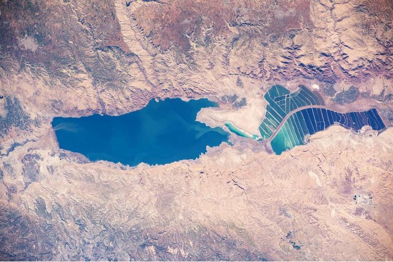 Фотография мёртвого моря с МКС