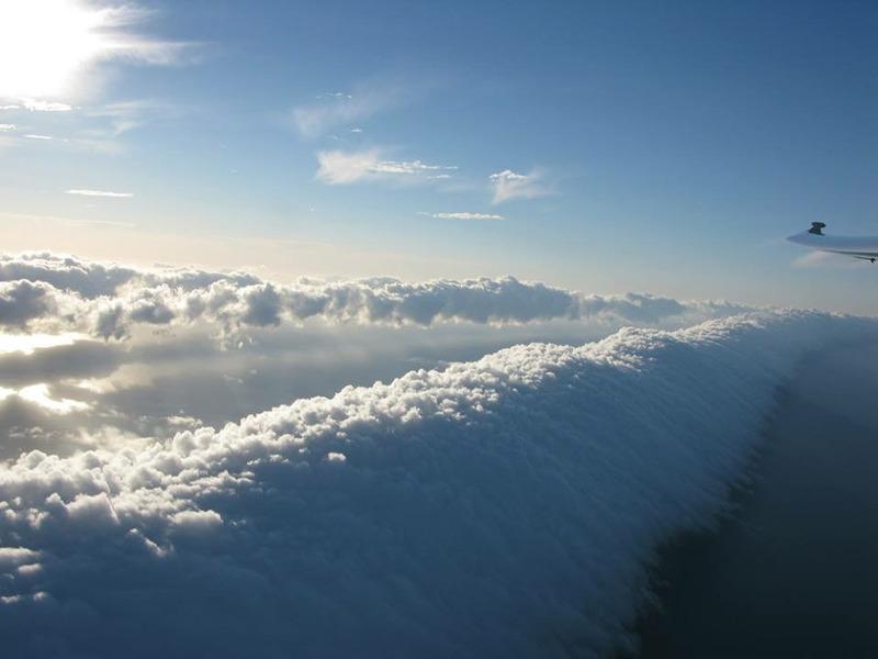 Утренняя глория (Morning Glory) в заливе Карпентария на севере Австралии
