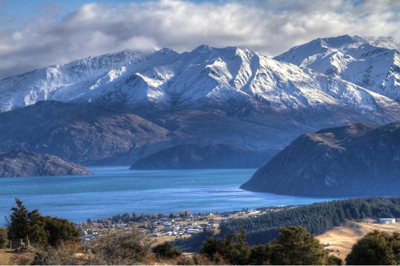 Озеро Ванака в Новой Зеландии