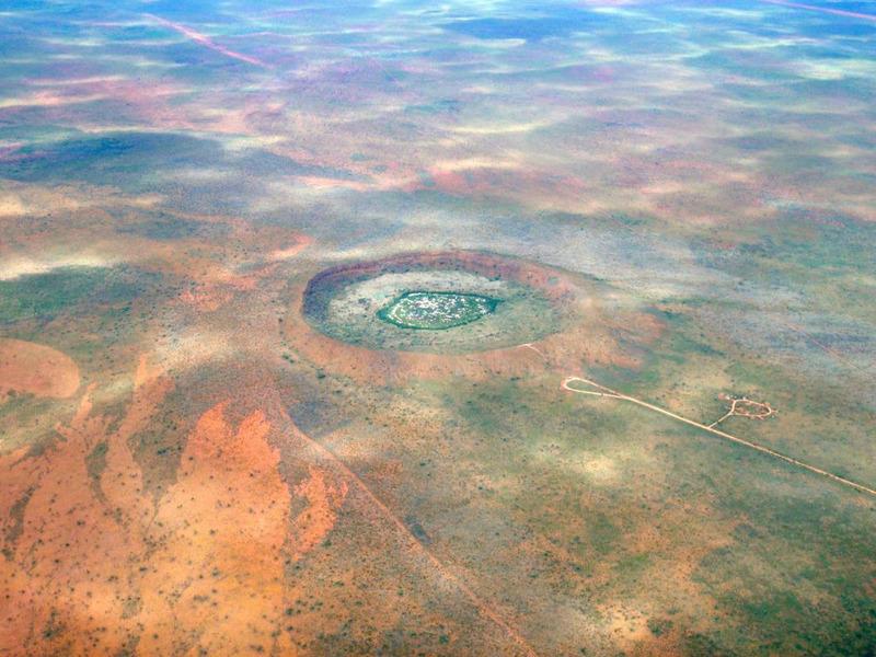Кратер Вулф-Крик в Австралии
