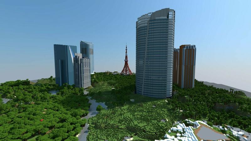 Токио в Minecraft