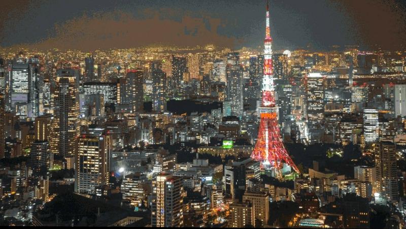 Пейзажи Токио в Minecraft