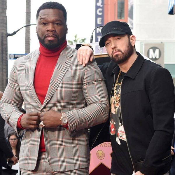Eminem и 50 Cent на вручения звезды на Аллее славы в Голливуде