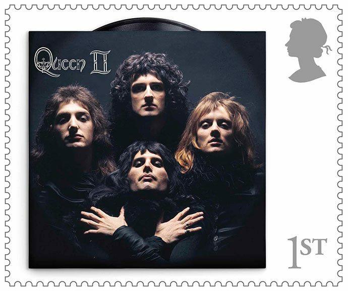 Почтовые марки к 50-летию группы Queen