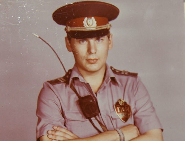 Младший сержант ГАИ Юрий Клинских, СССР, 1980-е.