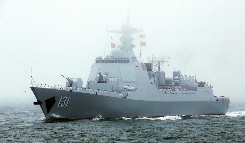 военно-морской парад в Китае