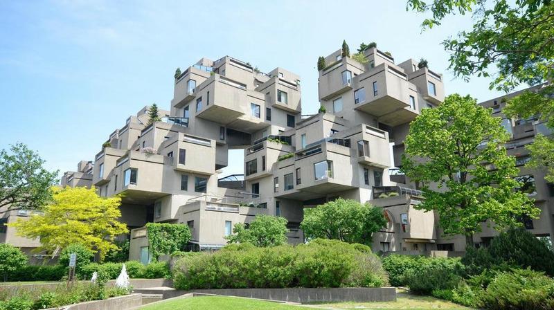 жилой комплекс Хабитат 67 в Монреале