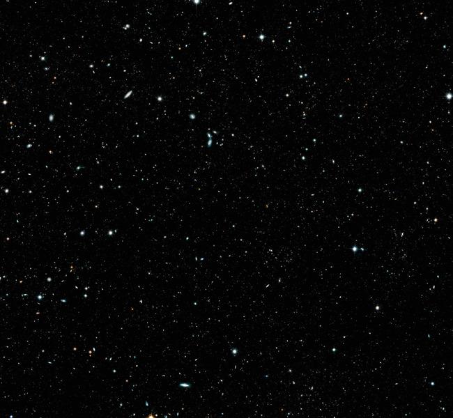 Участок неба в созвездии Печь