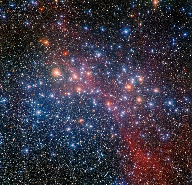 Разноцветное звездное скопление NGC 3532