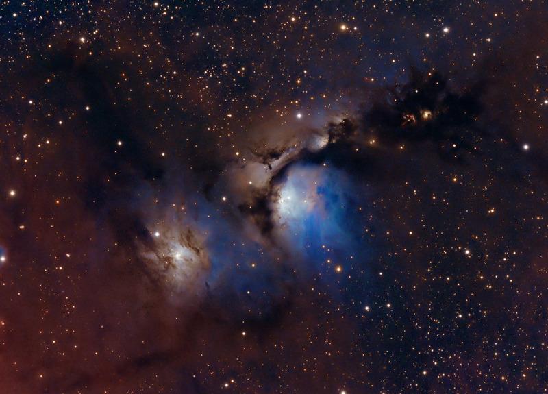 Голубая отражательная туманность M78 (M 78, Messier 78, Мессье 78, NGC 2068, Ced55u,)