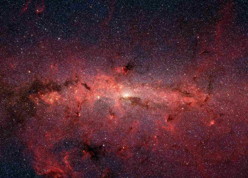 Центр галактики Млечный Путь в инфракрасном свете