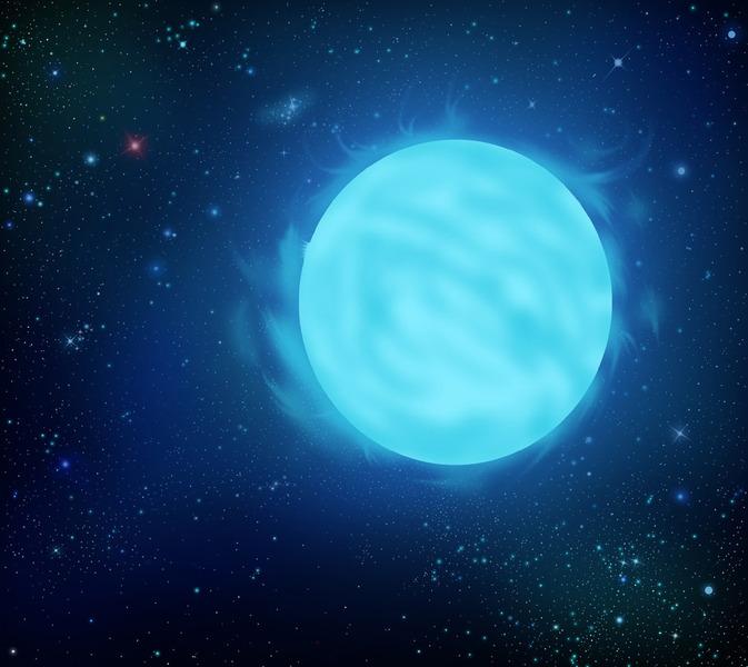 R136a1 находится на расстоянии 165 000 световых лет от Земли в туманности Тарантул в Большом Магеллановом Облаке.