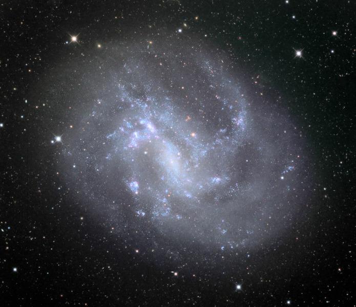 Спиральная галактика NGC 4395