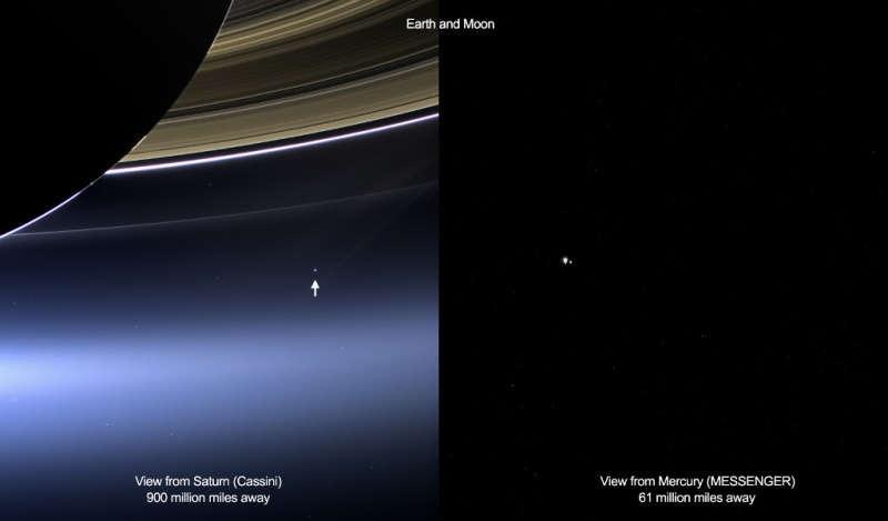 Земля из межпланетного пространства