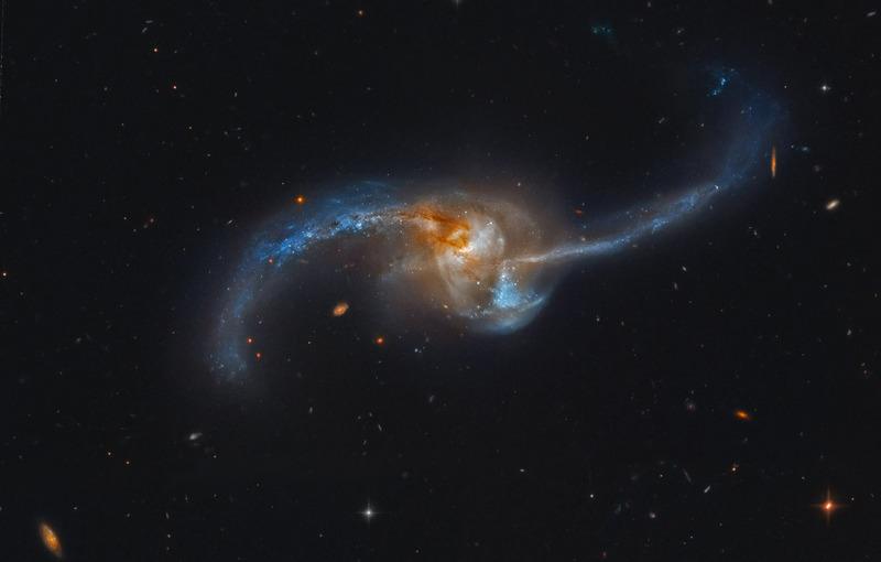 Сливающаяся галактика NGC 2623