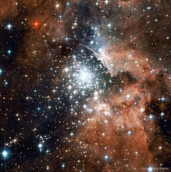 Звёздное скопление NGC 3603 рассеянное скопление в созвездии Киль