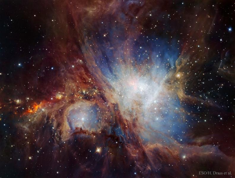 Туманность Ориона в инфракрасном свете