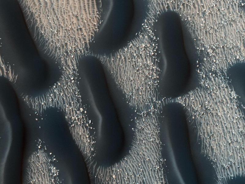 Песчаные дюны на дне марсианского кратера Проктор