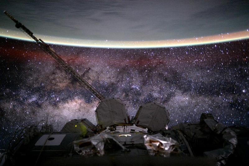 Земля и Млечный Путь из космоса