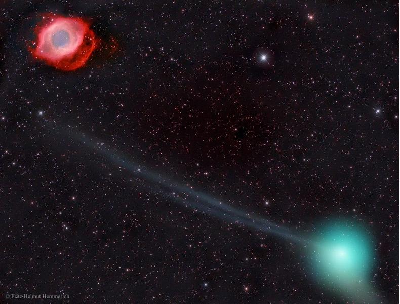 Комета PanSTARRS и туманность Улитка