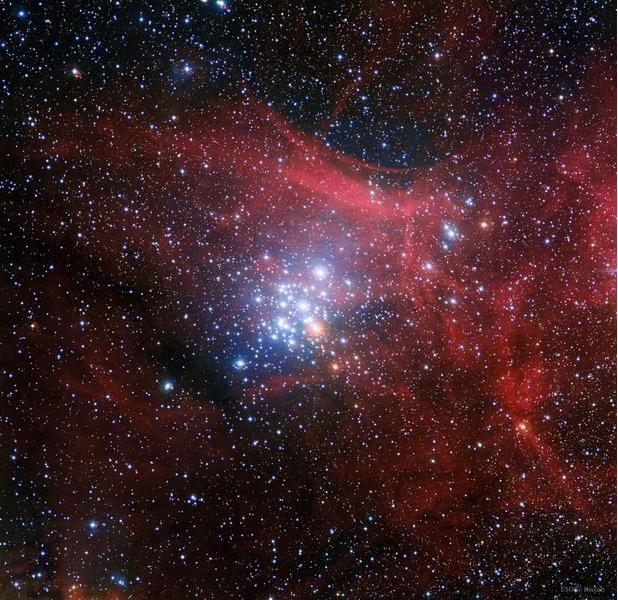 Звёздное скопление NGC 3293 в созвездии Киля