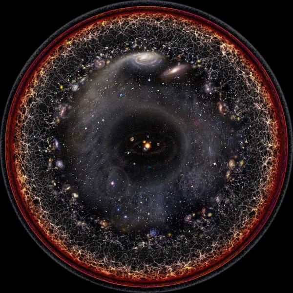 Изображение структуры наблюдаемой Вселенной - Работа Пабло Будасси