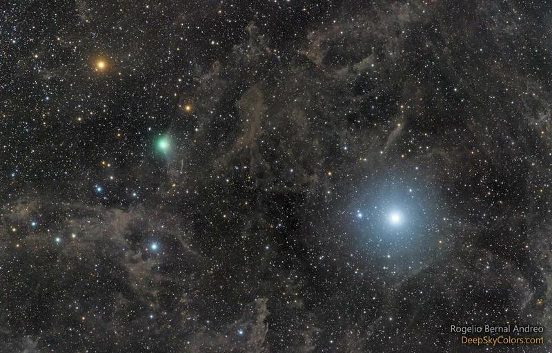Полярная звезда и комета Лавджоя