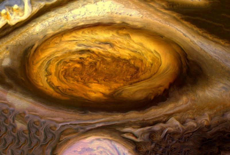 Гигантский ураган на Юпитере