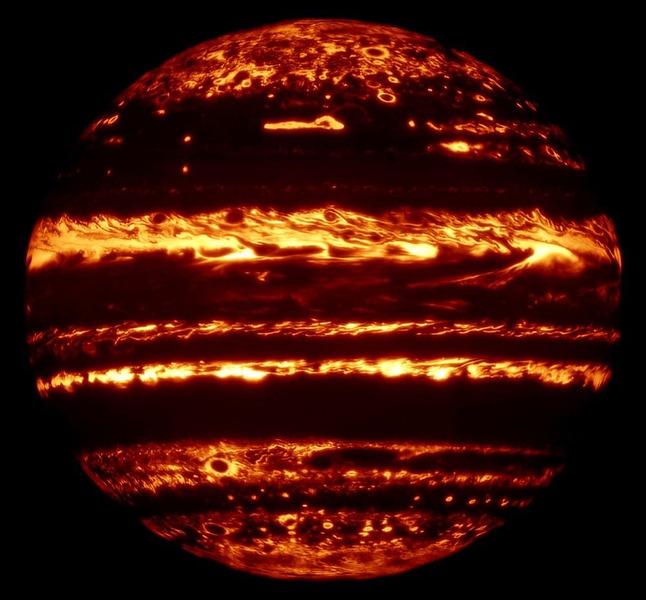 Юпитер в инфракрасном диапазоне