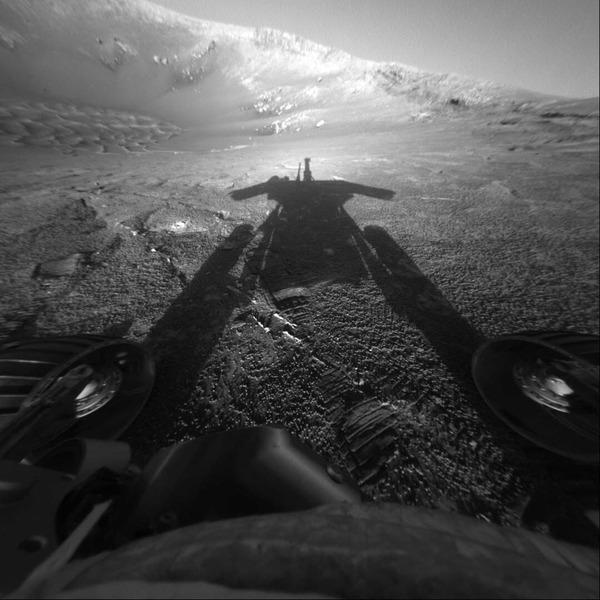 Тень марсохода Opportunity (Оппортьюнити)