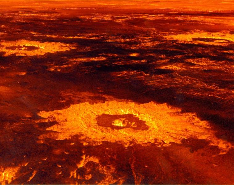 Трёхмерная компьютерная реконструкция кратеров Саския