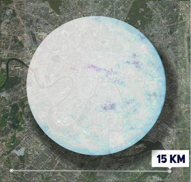 Нейтронная звезда в масштабах Москвы
