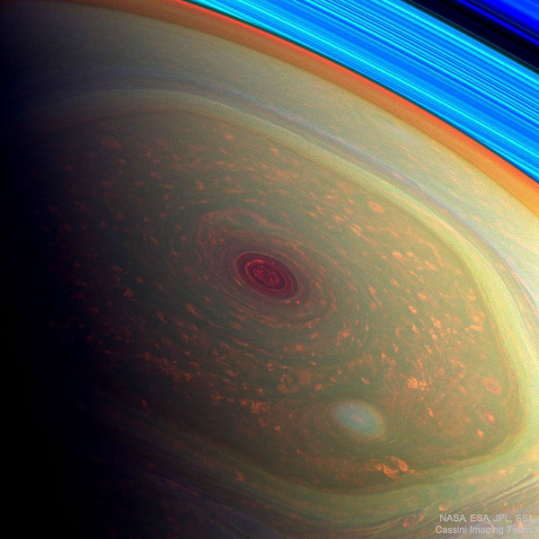 Северный шестиугольник на Сатурне
