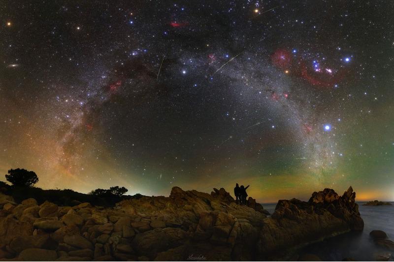 Млечный путь. Вид ночного неба над Сардинией.