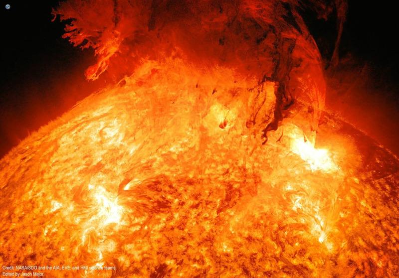 Выброс корональной массы на Солнце