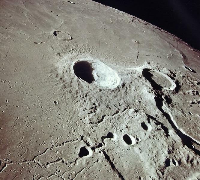 Кратеры Аристарх и Геродот на Луне