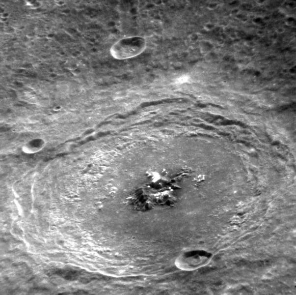 Кратер Барток на Меркурии