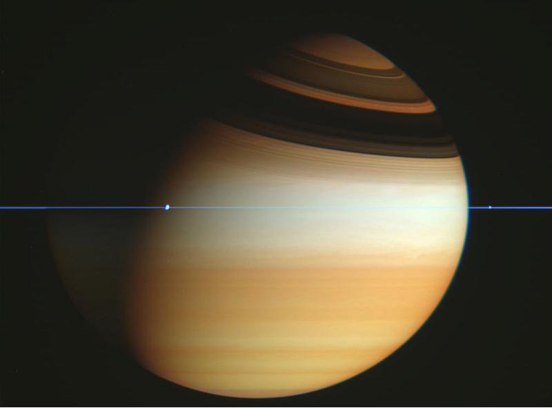 Фото Сатурна сделанная зондом Кассини