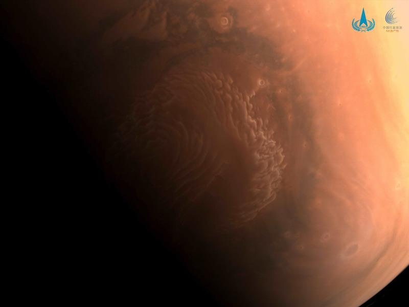 северный полярный круг Марса