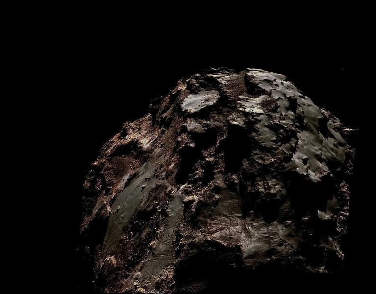 Комета Чурюмова — Герасименко в естественных цветах